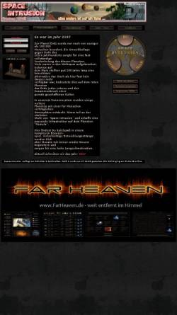Vorschau der mobilen Webseite www.space-intrusion.de, Space-Intrusion