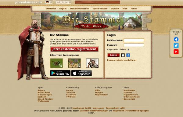 Vorschau von www.die-staemme.de, Die Stämme