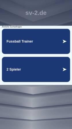 Vorschau der mobilen Webseite www.sv-2.de, sv² - a new world is born