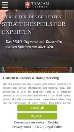 Vorschau der mobilen Webseite www.travian.de, Travian