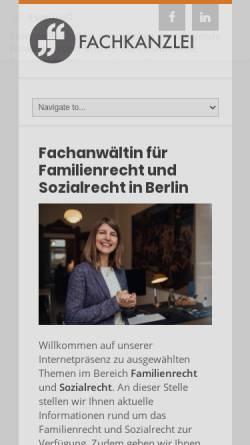 Vorschau der mobilen Webseite www.recht-e.de, Behrens, Katharina