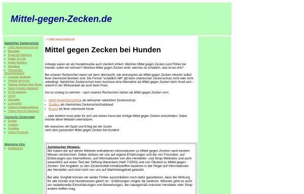 Vorschau von www.mittel-gegen-zecken.de, Mittel gegen Zecken