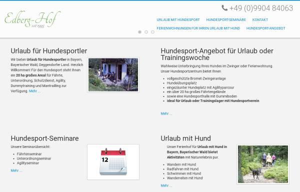 Vorschau von www.edberghof.de, Edberg Hof Urlaubsdomizil mit Hund