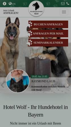 Vorschau der mobilen Webseite www.hotel-wolf.de, Hotel Wolf