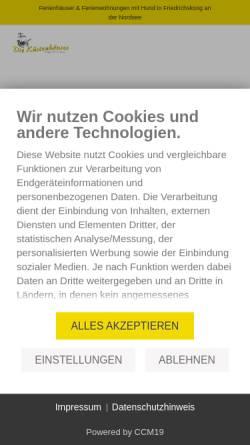 Vorschau der mobilen Webseite www.friedrichskoog-spitze.de, Nordseeheilbad Friedrichskoog-Spitze