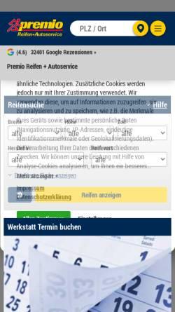 Vorschau der mobilen Webseite www.reifen-fix.de, Reifen-Fix, GD Handelssysteme GmbH & Co. KG