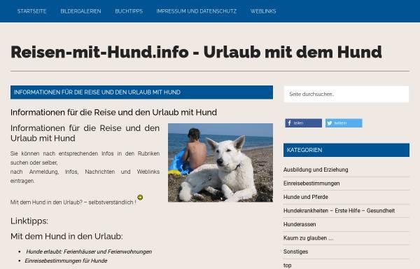 Vorschau von www.reisen-mit-hund.info, Reisen-mit-Hund.info