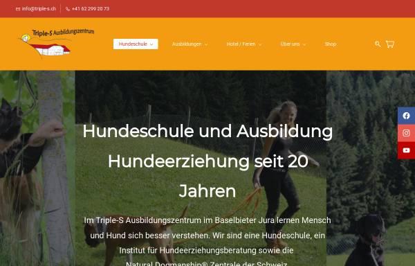 Vorschau von www.triple-s.ch, Triple-S Hundeferienparadies