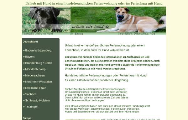 Vorschau von www.urlaub-mit-hund.de, Urlaub mit Hund