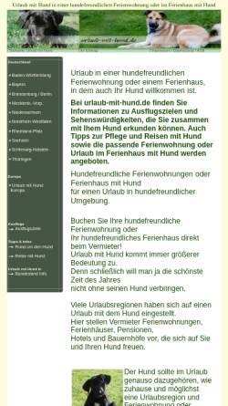 Vorschau der mobilen Webseite www.urlaub-mit-hund.de, Urlaub mit Hund