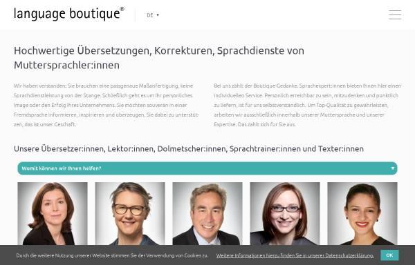 Vorschau von language-boutique.de, Elizabeth Naithani