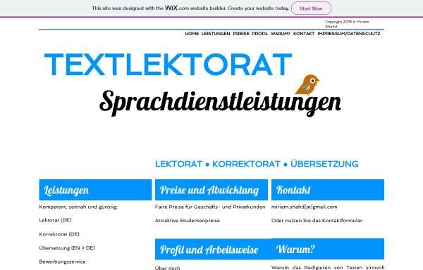 Vorschau von www.textlektorat.de, Textlektorat Miriam Shahd