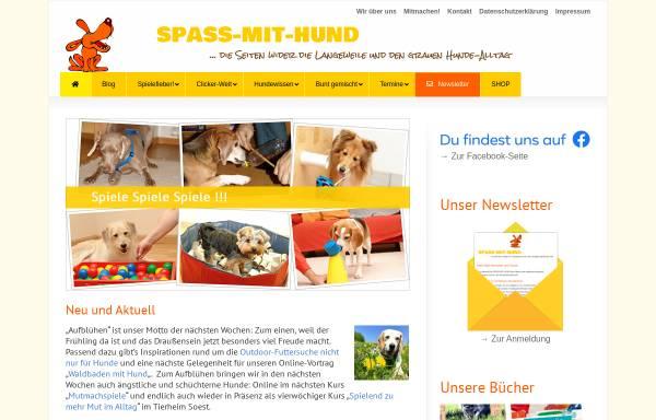 Vorschau von www.spass-mit-hund.de, Spass mit Hund