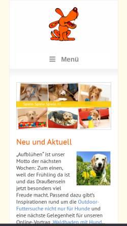 Vorschau der mobilen Webseite www.spass-mit-hund.de, Spass mit Hund