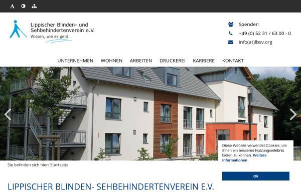 Vorschau von www.lbsv.org, Lippischer Blindenverein e.V.