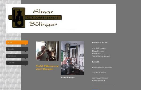 Vorschau von www.dorfbrennerei-boelinger.de, Alte Dorfbrennerei - Elmar Bölinger