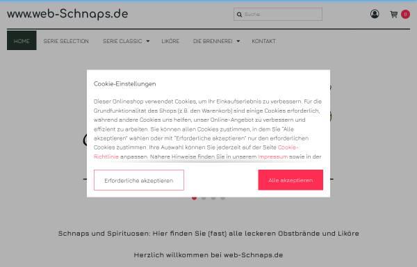 Vorschau von www.web-schnaps.de, Brennerei Spinner