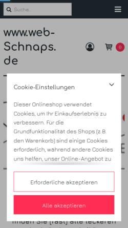 Vorschau der mobilen Webseite www.web-schnaps.de, Brennerei Spinner