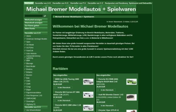Vorschau von www.modellautos-bremer.de, Michael Bremer Modellautos