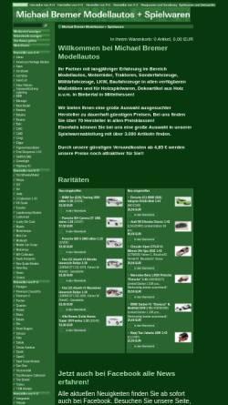 Vorschau der mobilen Webseite www.modellautos-bremer.de, Michael Bremer Modellautos