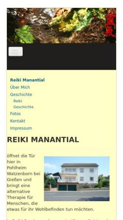 Vorschau der mobilen Webseite www.reiki-manantial.de, Alexis Föhst