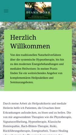 Vorschau der mobilen Webseite www.dianadoerr.de, Diana Dörr