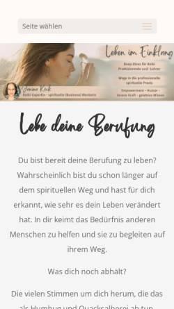 Vorschau der mobilen Webseite www.leben-im-einklang.de, Janina Köck