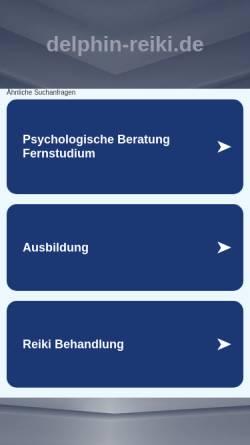 Vorschau der mobilen Webseite www.delphin-reiki.de, Sawatti Brigitte Abel