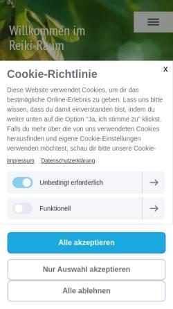 Vorschau der mobilen Webseite www.reiki-raum.net, Sigrid König