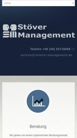 Vorschau der mobilen Webseite www.stoever-management.de, Stöver Management, Inh. Gerd Stöver