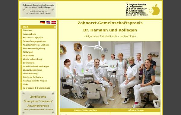 Vorschau von www.drhamann.de, Dr. Dagmar Hamann, Dr. Jörg Hamann, Dr. Silvia Schmücker