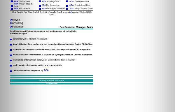 Vorschau von www.aca-sc.de, ACA GmbH