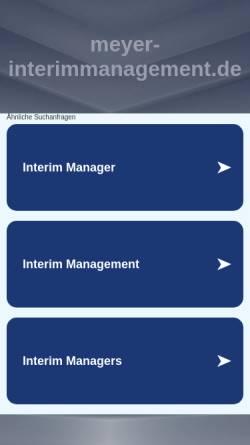 Vorschau der mobilen Webseite meyer-interimmanagement.de, Ernst L. Meyer Interim Management