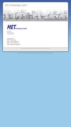 Vorschau der mobilen Webseite www.met-schaltanlagen.de, MET Schaltanlagen, Inh. Thomas Merkel