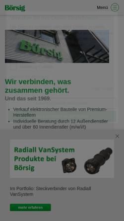 Vorschau der mobilen Webseite www.boersig.com, Börsig GmbH