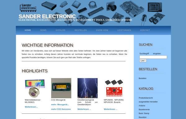 Vorschau von www.sander-electronic.de, Sander Electronic, Inh. Dr. Ing. Klaus Sander