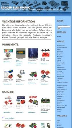 Vorschau der mobilen Webseite www.sander-electronic.de, Sander Electronic, Inh. Dr. Ing. Klaus Sander