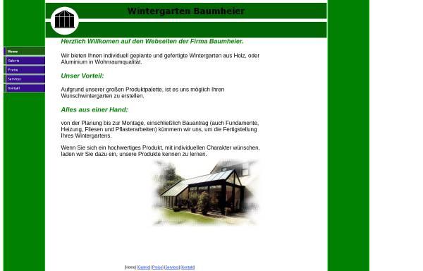 Vorschau von www.wintergarten-baumheier.de, Baumheier und Partner