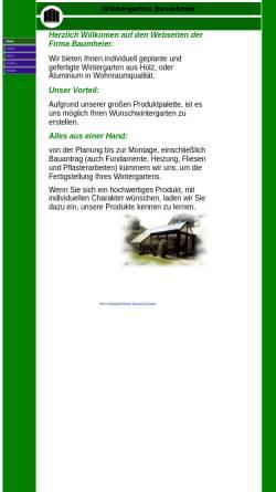 Vorschau der mobilen Webseite www.wintergarten-baumheier.de, Baumheier und Partner