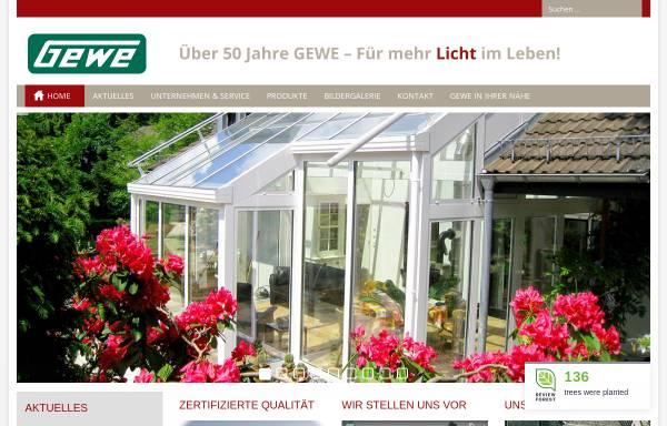 Vorschau von www.gewe.com, Gewe-Selecta Fenster- und Rolladenfabrik Heinrich Weihe GmbH