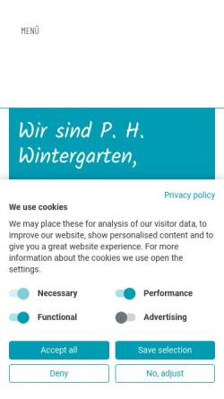 Vorschau der mobilen Webseite www.ph-wintergarten.de, P.H.