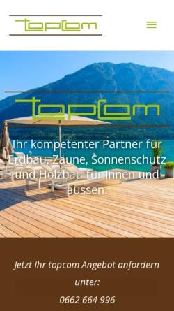 Vorschau der mobilen Webseite www.topcom.at, Topcom Hoefler u. Kamper OEG
