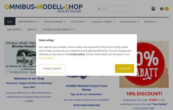 Vorschau von www.omnibus-modell-shop.de, Omnibus-Modell-Shop Rhein-Ruhr