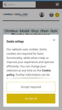 Vorschau der mobilen Webseite www.omnibus-modell-shop.de, Omnibus-Modell-Shop Rhein-Ruhr