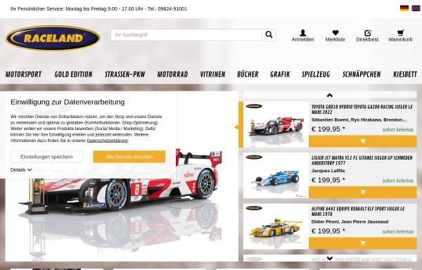 Vorschau von www.raceland.de, Raceland GmbH