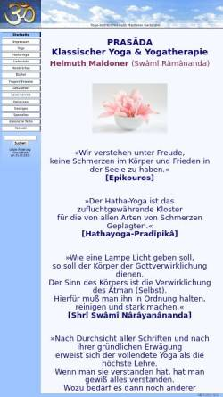 Vorschau der mobilen Webseite www.yoga-maldoner.de, Yoga-Institut Helmuth Maldoner
