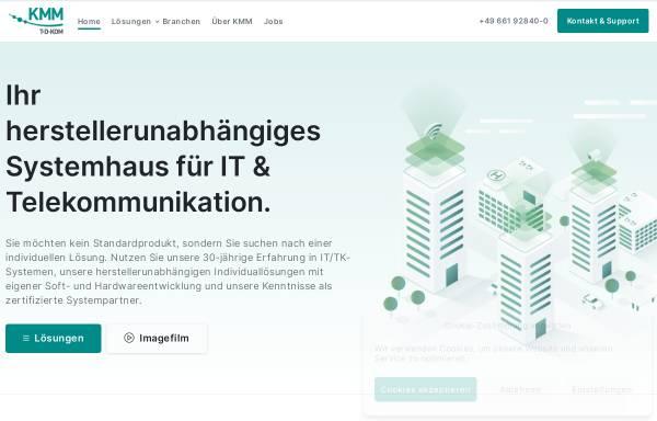 Vorschau von www.kmm.de, KMM - T.D.KOM Telefon-Daten-Kommunikationssysteme GmbH