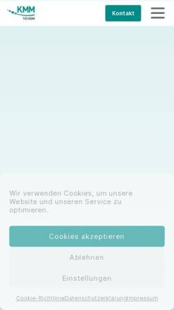 Vorschau der mobilen Webseite www.kmm.de, KMM - T.D.KOM Telefon-Daten-Kommunikationssysteme GmbH
