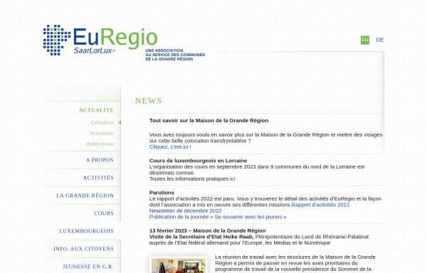 Vorschau von www.euregio.lu, Euregio SaarLorLuxRhein