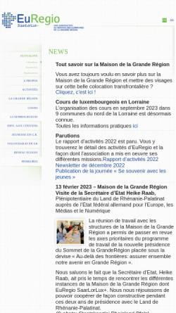 Vorschau der mobilen Webseite www.euregio.lu, Euregio SaarLorLuxRhein
